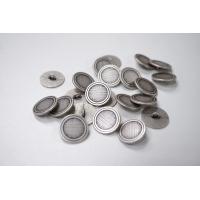 Пуговица на ножке костюмно-рубашечная металлическая серебристо-серая 20 мм-(L)- 11122034
