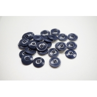 Пуговица костюмная пластик 17 мм светло-синяя-(CD)- 11122045