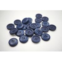 Пуговица костюмная пластик 20 мм дымчато-синяя-(CD)- 11122046