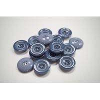 Пуговица пальтовая пластик 27 мм серо-голубая-(EF)- 11122055