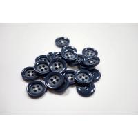 Пуговица костюмная пластик 20 мм серо-синяя-(EF)- 11122056
