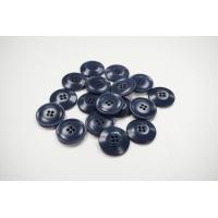 Пуговица костюмная пластик 22 мм серо-синяя-(EF)- 11122063