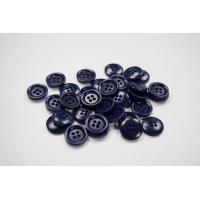 Пуговица костюмно-рубашечная пластик 15 мм темно-синяя-(EF)- 11122066