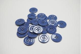 Пуговица костюмно-пальтовая пластик 25 мм светло-синяя-(K)- 11122067