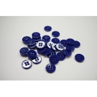 Пуговица костюмно-рубашечная пластик 15 мм фиолетовая-(EF)- 11122068