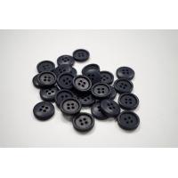 Пуговица костюмно-рубашечная пластик 17 мм иссиня-черная-(EF)- 11122069