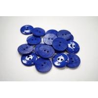 Пуговица костюмно-пальтовая пластик 25 мм ярко-синяя-(EF)- 11122070