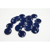 Пуговица костюмная пластик сине-черная 21 мм PRT-(CD)- 11122081