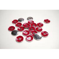 Пуговица костюмная металлическая красная 20 мм PRT-(K)- 11122084