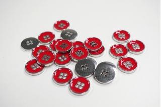 Пуговица костюмная металлическая красная 17 мм PRT-(K)- 11122085