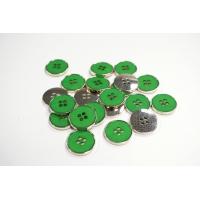Пуговица костюмная металлическая зеленая 20 мм PRT-(K)- 11122086