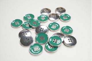 Пуговица костюмная металлическая зеленая мята 20 мм PRT-(K)- 11122087
