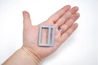 Пряжка двойная металл сиреневая 53х40 мм PRT-(T)- 21122006