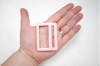 Пряжка двойная металл розовая 65х48 мм PRT-(T)- 21122008