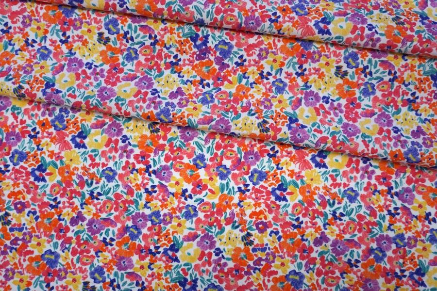Хлопок органический с цветочками PRT-G6 08062009