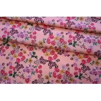 Хлопок органический цветы на розово-персиковом PRT-G6 08062014