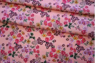 Хлопок органический цветы на розово-персиковом PRT-E3 08062014