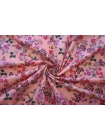 Хлопок органический цветы на розово-персиковом PRT-E5 08062014