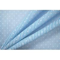 ОТРЕЗ 2,1 М Поплин рубашечный в бело-голубую полоску PRT- E4 03052001-1