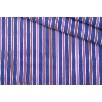 Поплин рубашечный в красно-синюю полоску PRT- G5 03052003