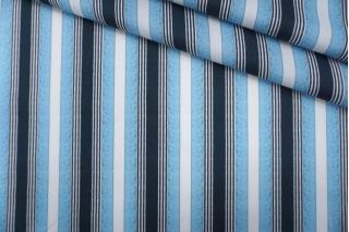 Рубашечный хлопок в полоску бело-голубой PRT- E4 03052004