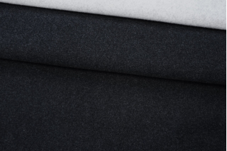 Кашемир пальтовый дабл черно-серый MSC-C2 04111904
