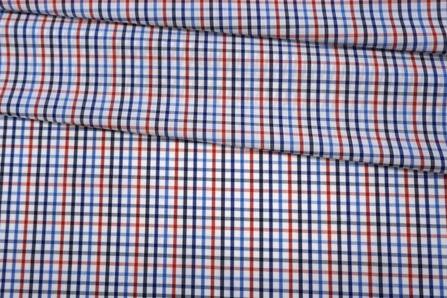 Поплин рубашечный в клетку PRT- E4 19042008