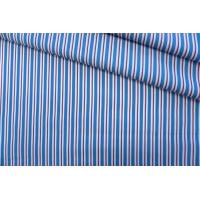 Поплин рубашечный в красно-голубую полоску PRT- E4 22042002