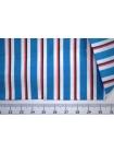 Поплин рубашечный в красно-голубую полоску PRT- A70 22042002