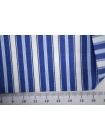 Поплин рубашечный в бело-голубую полоску PRT-A70 22042031