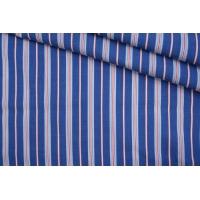 Поплин рубашечный в красно-синюю полоску PRT- E4 22042032