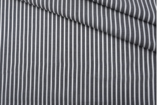 ОТРЕЗ 1,3 М Поплин рубашечный в полоску черно-белый PRT-(42)- 22042034-1