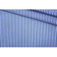ОТРЕЗ 0,85 М Поплин рубашечный бело-голубой в полоску PRT-Е4 25042007-1
