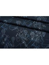 Сатин рубашечный темно-синий TR 01122006