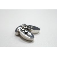 Фиксатор для шнурка металл серебряный PRT-U 07112006