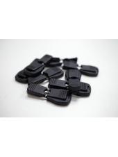 Фиксатор-наконечник для шнурка пластик черный PRT 07112008