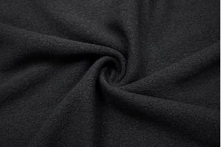 Вареная шерсть пальтовая черная BRS-EE6 09112039