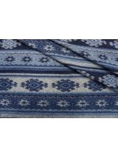 Лоден двусторонний синий орнамент BRS 09112040
