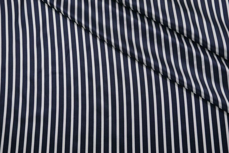Подкладочная вискоза сине-белая полоска BRS-B4 13112016