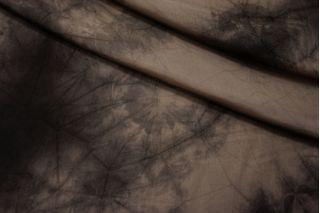 Подкладочная вискоза тай-дай кофейно-коричневая BRS-K6 13112020