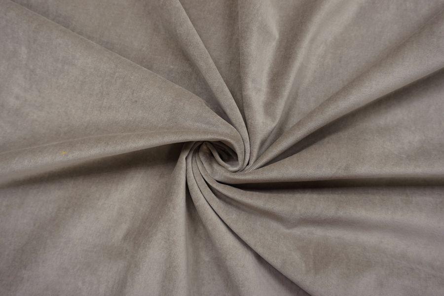 Велюр хлопковый серый BRS-Z3 13112028