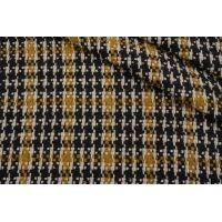 Шерстяная шанель горчично-черная BRS 13112034