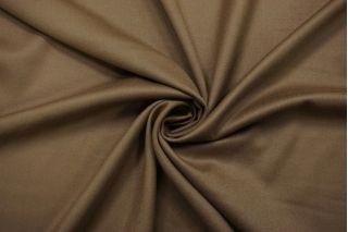 Костюмная шерстяная фланель бежево-коричневая BRS-CC50 13112036