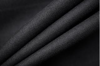 Тонкая костюмно-плательная шерсть черная BRS 13112037