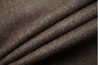 Костюмная шерстяная фланель темно-коричневая BRS-BB4 13112039