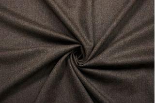 Костюмная шерстяная фланель темно-коричневая BRS-CC70 13112039
