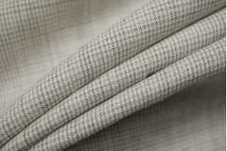 Плательная шерсть со льном бело-серая пепита BRS-DD7 13112044