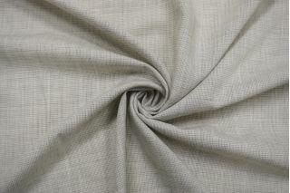 Плательная шерсть со льном бело-серая пепита BRS 13112044