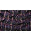 Рубашечный хлопок в клетку фиолетово-черный BRS-G3 13112046