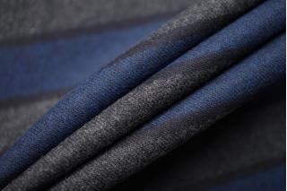 Хлопок-фланель в полоску сине-серый BRS-DD3 13112050